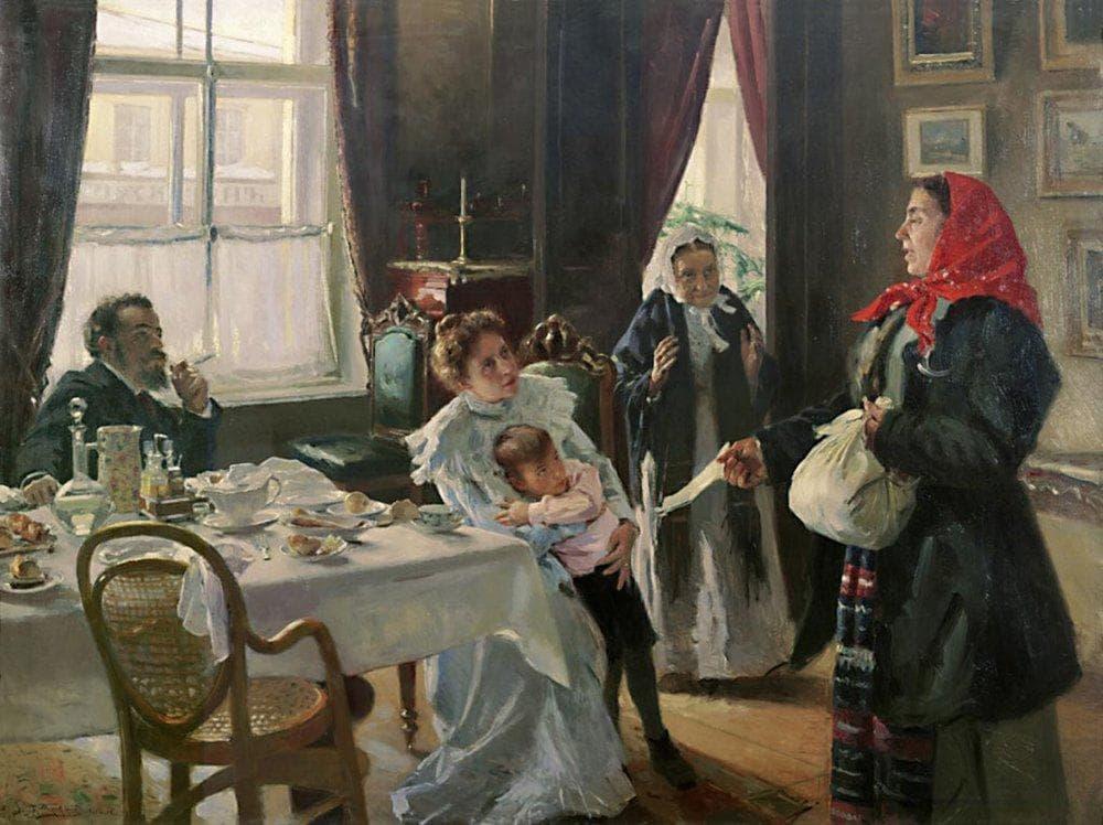 Картина Репина Приплыли - Российский туризм)
