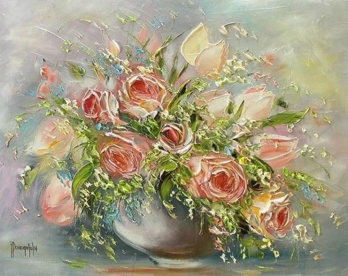 розы в живописи - 11