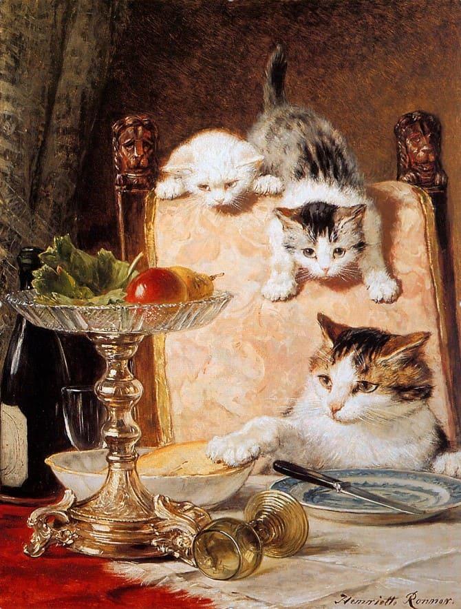 художник Генриетта Роннер-Книп (Henriette Ronner-Knip) – 11