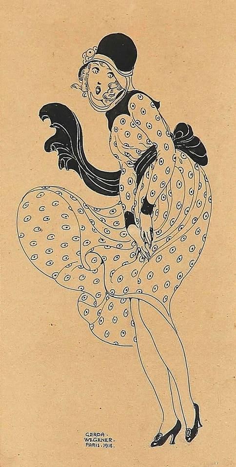 художник Герда Вегенер (Gerda Wegener) картины – 42